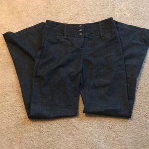B Wear size 7 black denim style wide leg pants